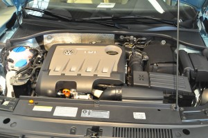 The Passat's TDI Clean Diesel inline four