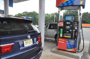 BMW X5 diesel at fueling station