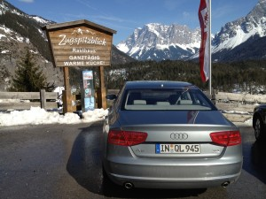 Audi A8 TDI near the Zugspitze