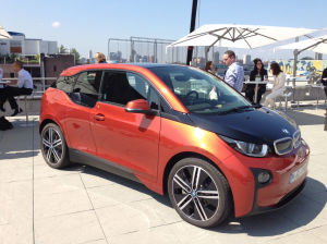 The BMW i3 at its launch in New York City