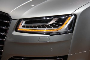 The Audi A8's new headlights