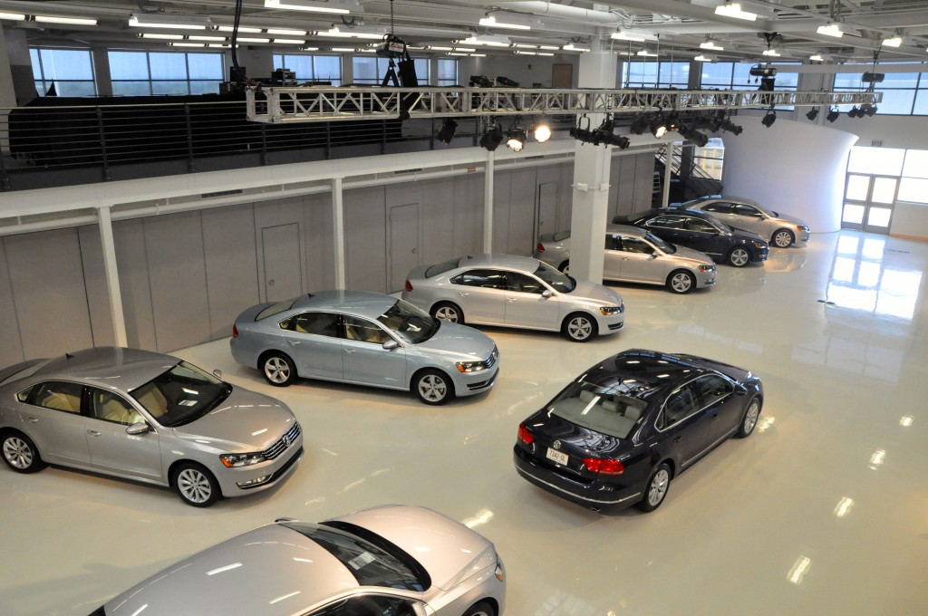 Volkswagen Passats at the factory