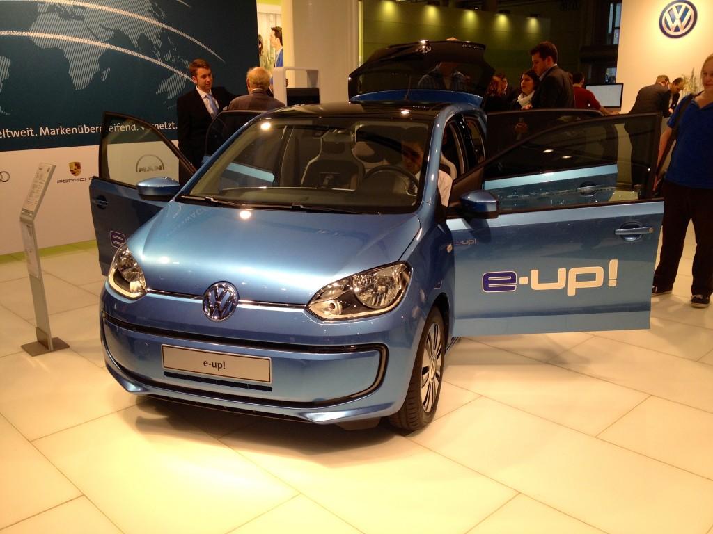Volkswagen's e-Up on the CeBit floor