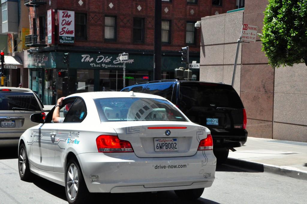 A BMW ActiveE in San Francisco