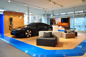 BMW of Manhattan's special BMW i showroom display area