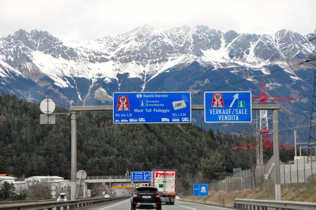 Leaving Italy, entering Austria