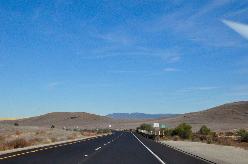 A highway in Southern California
