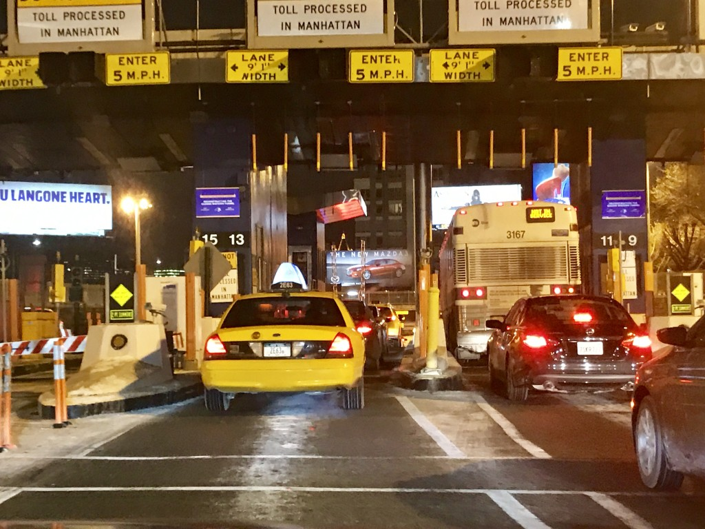 Cars were no longer stopping to pay tolls at the Midtown Tunnel on Tuesday
